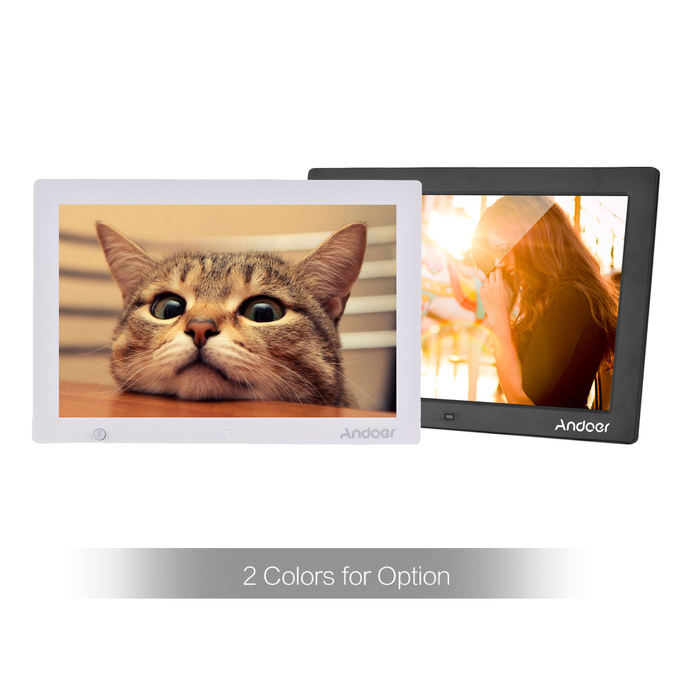 Andoer 15.4 Inch HD Digital Photo Frame Electronic Picture Album 1080P Video Music Player with Motion Sensor Scroll Subtitle-in Digital Photo Frames from Consumer Electronics    3