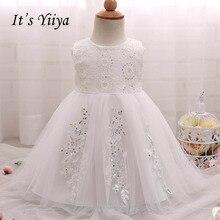 цены на It's yiiya Fashion Bow Zipper Floor Length Kid Cloth Sleeveless Flower Girl Dresses Elegant For Party Wedding Girl Dress S119  в интернет-магазинах