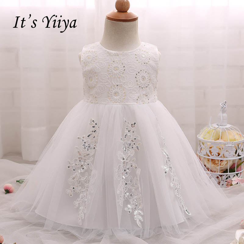It's yiiya Fashion Bow Zipper Floor Length Kid Cloth Sleeveless   Flower     Girl     Dresses   Elegant For Party Wedding   Girl     Dress   S119
