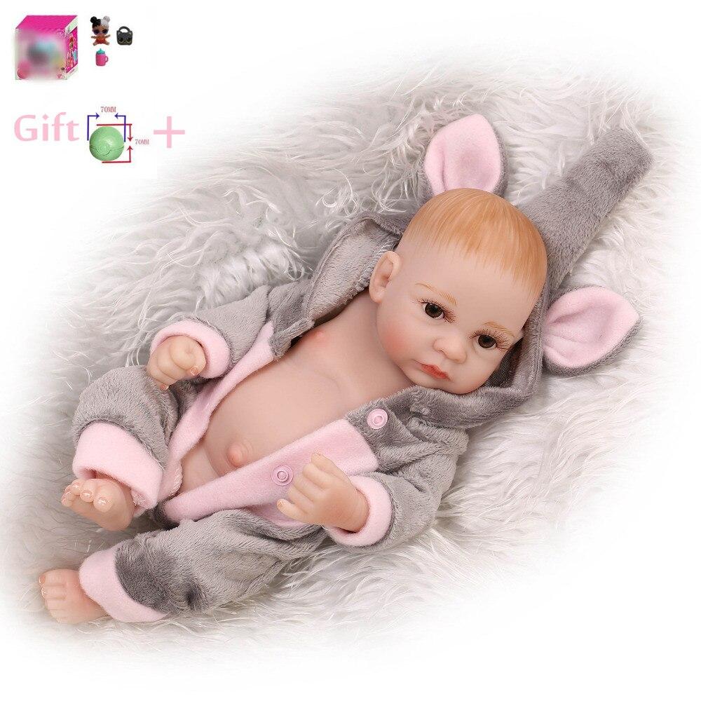 12inch Lifelike Reborn Newborn Full Baby Born Silicone Doll Kids For Girls Babies Soft Toys Vinyl Reborn Lol Doll Christmas Gift