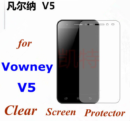 5 Pieces of Clear Anti-Scratch Screen Protector  For Vowney V5 Cell Phone , free shipping