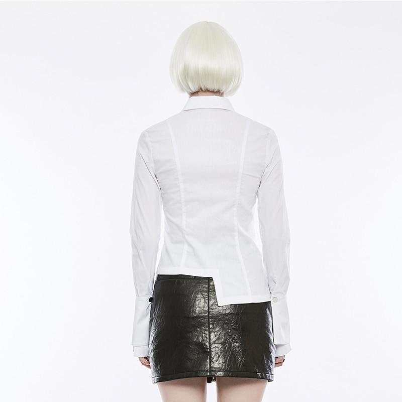 Punk Rave Daily Life Black Fashion Designer Lady Casual Shirts Flared Long Sleeves Asymmetric Slim Casual Ladies Western Blouse Blouses Shirts Aliexpress