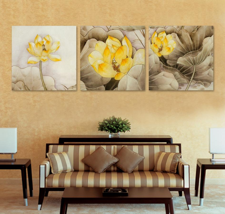 3 piece canvas wall art paintings canvas flowers abstract ar