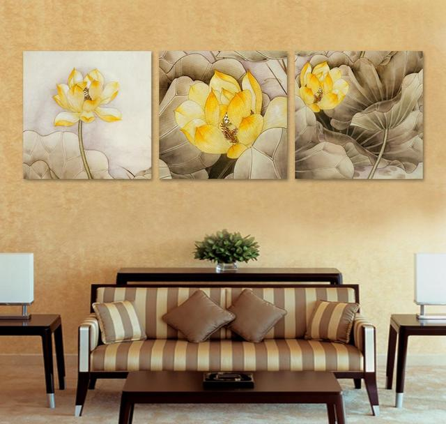 3 Piece Canvas Wall Art Paintings Canvas Flowers Abstract Art Decor Drawing Contemporary  Bedroom Set Decor