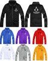 Assassin Creed Hoodies Jacket 2015 Spring M-4XL Zipper Hoodies Men Thick Fleece Hip Hop Sweatshirt Assassin Creed Hoodies Jacket