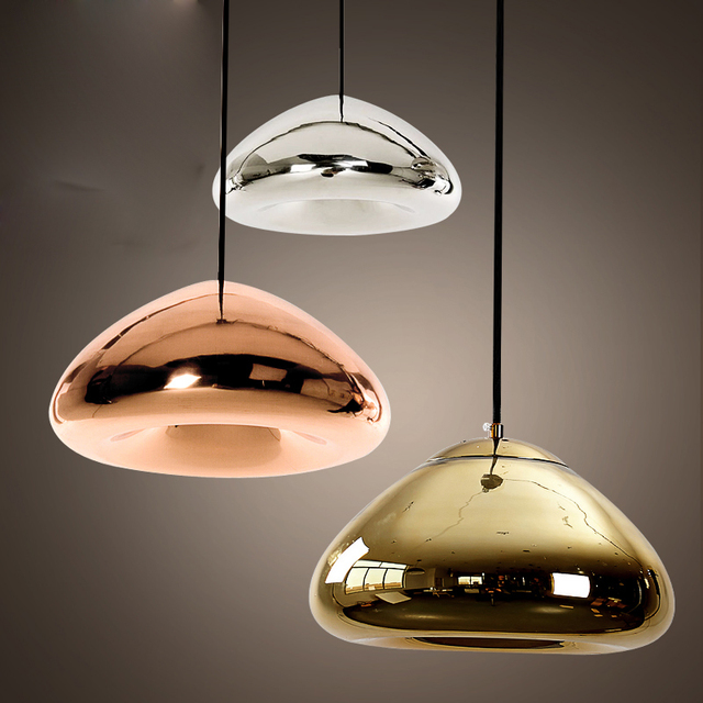 d044eff8dba round glass pendant light creative Tom Dixon Void Pendant Lamp for coffee   clothing store