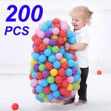 200 adet/torba açık spor topu renkli yumuşak su havuzu okyanus dalgası topu bebek çocuk komik oyuncaklar çevre dostu stres hava topu