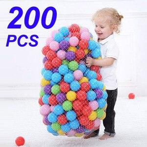 Image 1 - 200 adet/torba açık spor topu renkli yumuşak su havuzu okyanus dalgası topu bebek çocuk komik oyuncaklar çevre dostu stres hava topu