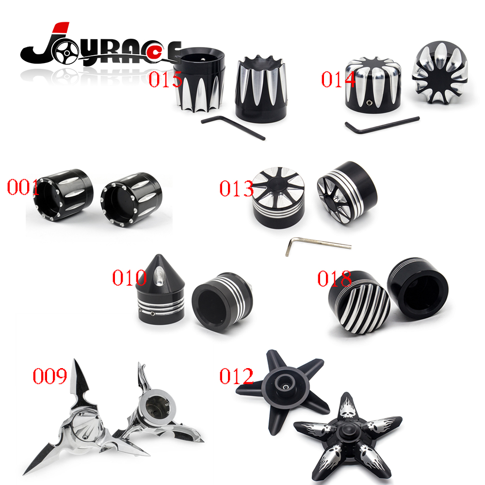 Front Axle Skull Nut Cover Cap For Harley Softail Dyna V-Rod Sportster 883 1200 купить
