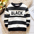 2017 Autumn And Spring Boys New Fashion Letter Pattern Sweatshirts stripe cotton hoodies Casual Girls tops clothes 80-95cm