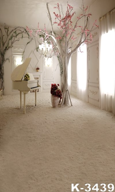 High Grade White Castle Photographer Backgrounds 150*200CM Beautiful Piano Decor Wedding Fundo Backdrops Digital Art Cloth Photo акустика центрального канала heco music style center 2 piano white ash decor white