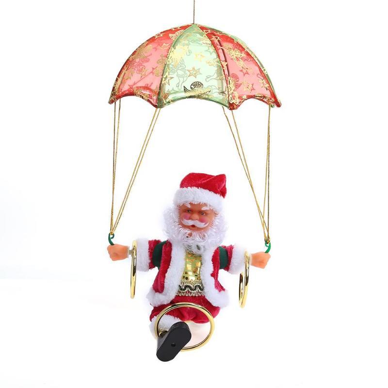 Navidad Santa Claus muñeco de peluche juguetes paracaídas eléctrico ...