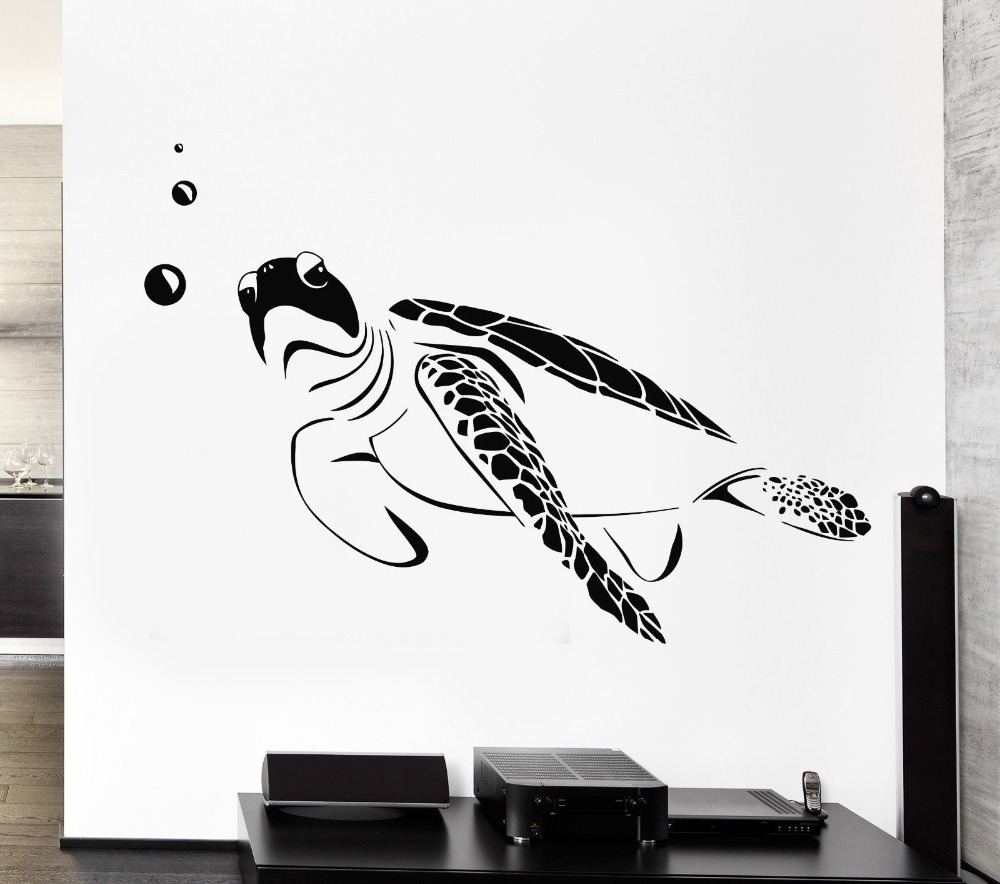 Sea Turtle Wall Decal Amazon Higoss Turtle Wall Decal Ocean Sea