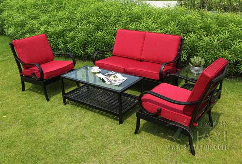 5 Piece Best Selling Cast Aluminum Outdoor Furniture Sofa Set