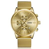 Brand Luxury Full Stainless Steel Watch Men Business Casual Stainless Steel Analog Quartz Vintage Watches Relogio