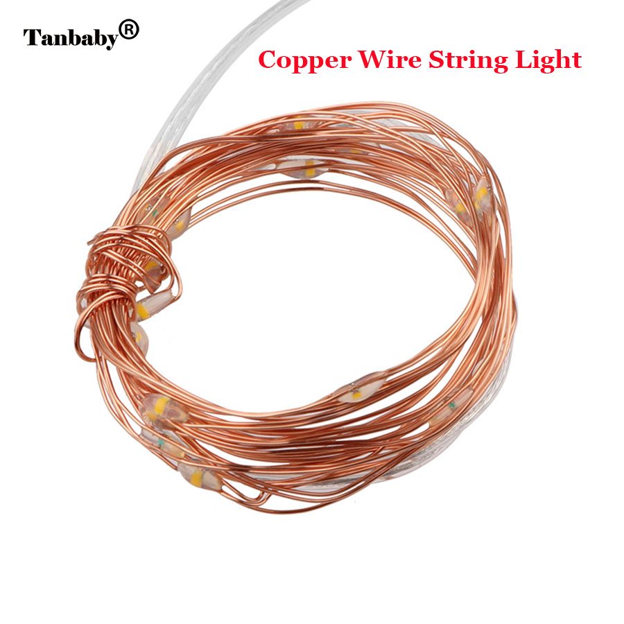 Tanbaby 2M 20 LED Copper Wire Holiday String Lights AA Battery ...
