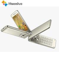 Оригинальный samsung Galaxy папка G1600 Dual SIM 4 ядра 2 ГБ Оперативная память 16 ГБ Встроенная память 8.0MP 3,8 Android 6,0 флип Восстановленный смартфон