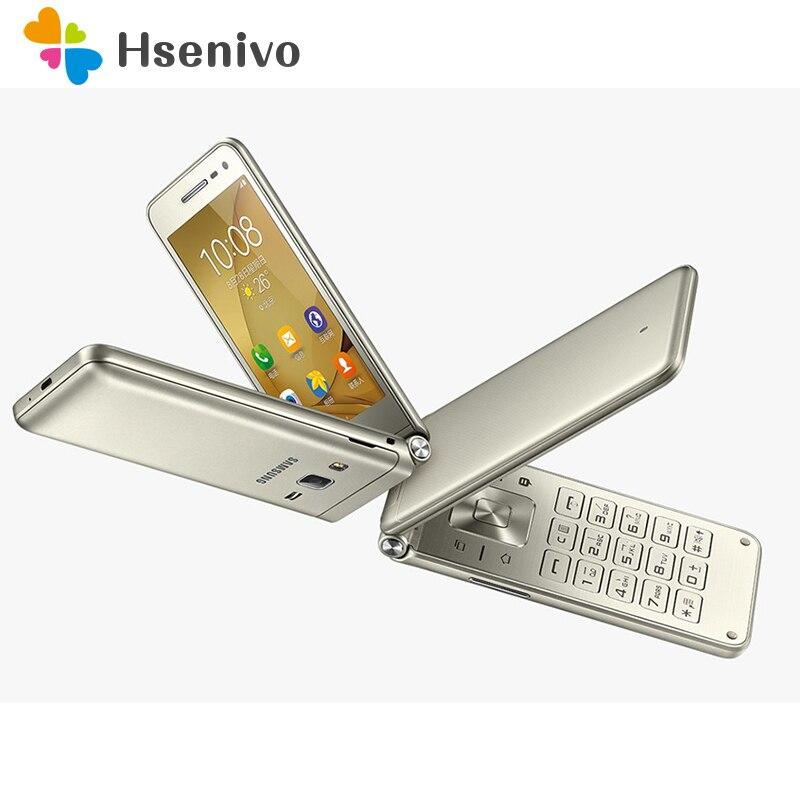 100 Original Samsung Galaxy Folder G1600 Dual SIM Quad Core 2GB RAM 16GB ROM 1950mAh 8