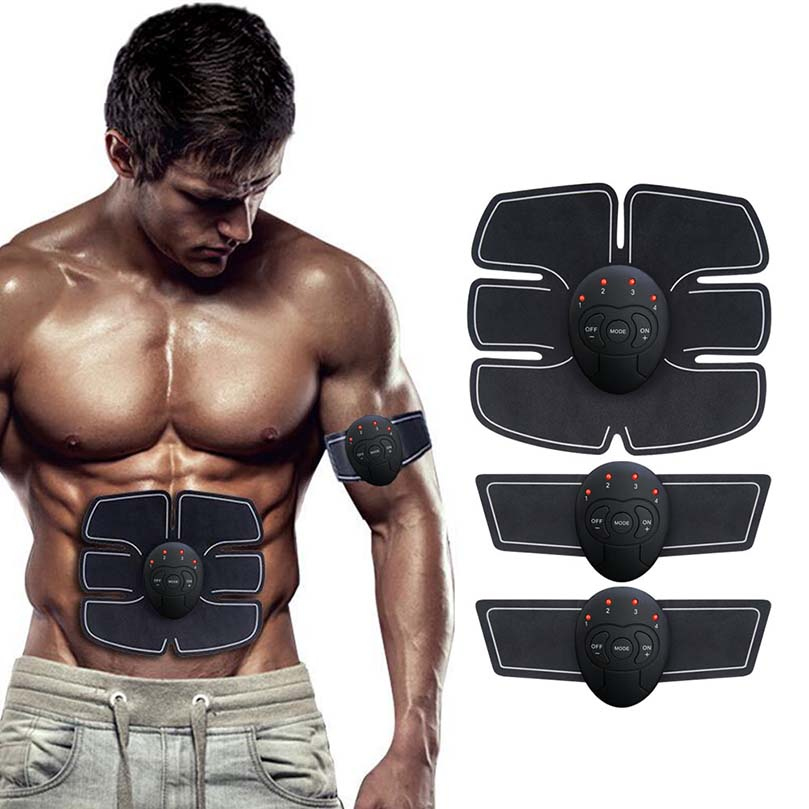 Electric Muscle Stimulator Body Slimming Massage Electric Wireless Abdominal Body Muscle Stimulator Trainer Relaxation Massager 2017 hot sale mini electric massager digital pulse therapy muscle full body massager silver