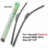 24 18 High Quality Bexceed Of Car Windshield Flat Rubber Wiper Blade For Hyundai Santa Fe