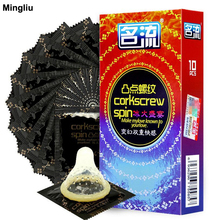 Mingliu 10pcs/lot Screw thread & particles stimulation orgasm Condoms for men Sexual products Prezervatif condom Safer sex