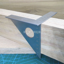 Woodworking Ruler Square Layout Miter Triangle Ruler 45 Degree 90 Degree Metric Gauge toohr Measure tool