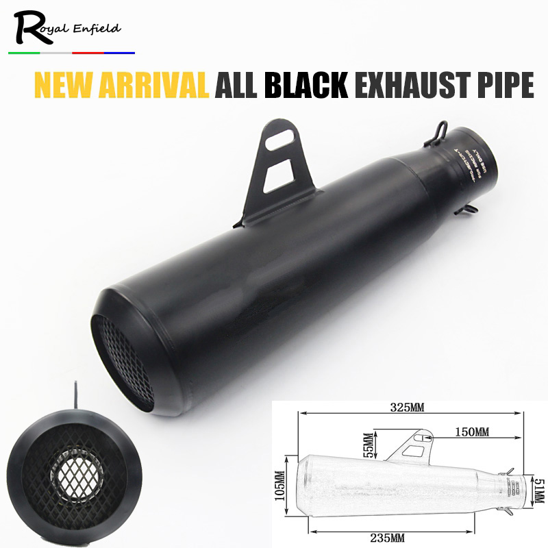 New model 51mm inelt Motorcycle pipe Exhaust muffler For CBR CBR125 CBR250 CB400 CB600 YZF r1 r6 FZ400 Z750 with laser marking