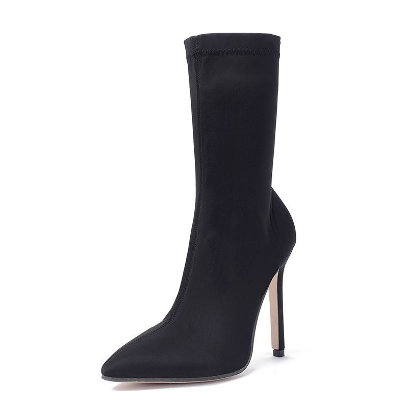 2018 autumn explosions stretch boots pointed fine heel socks boots foreign trade womens boots black ljj 11292018 autumn explosions stretch boots pointed fine heel socks boots foreign trade womens boots black ljj 1129