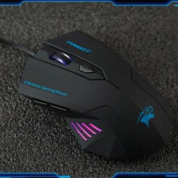 Эргономичная матовая Проводная игровая мышь Forka 6 кнопок 2400 dpi регулируемая Бесшумная щелчка оптическая USB компьютерная мышь для ПК ноутбука