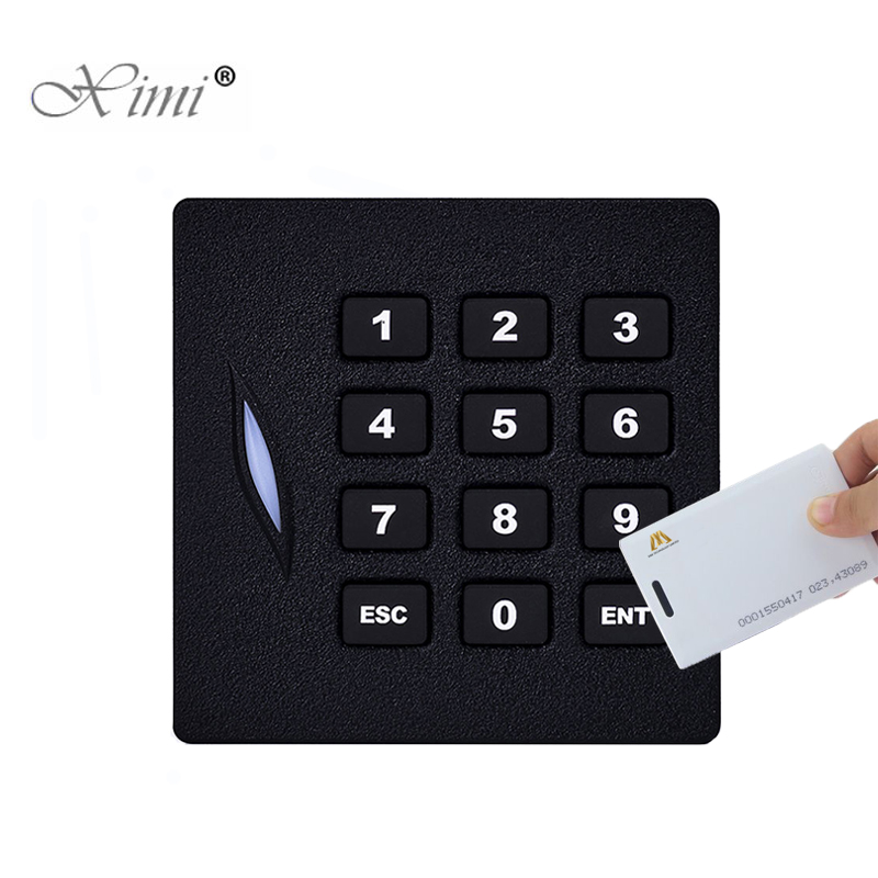 ZK KR102 125KHZ RFID Card Reader Wiegand26 Card Access Control Card Reader With Keypad IP65 Waterproof Card Reader