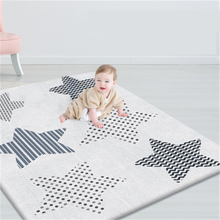 Portable non-slip double-sided baby game toy mat puzzle children pad thicken non-foldable crawling mat game blanket baby carpet недорого