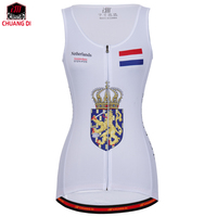 ZM Netherlands Female Vest National Flag Clothes Running Shirt Mesh Fabric Bike MTB Road Breathable Sportswear Top Riding Vest