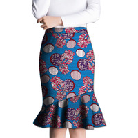 Fashion African Fishtail Skirt Women Fashion Skirts Ladies Dashiki Element Africa Clothing Tailored Custom
