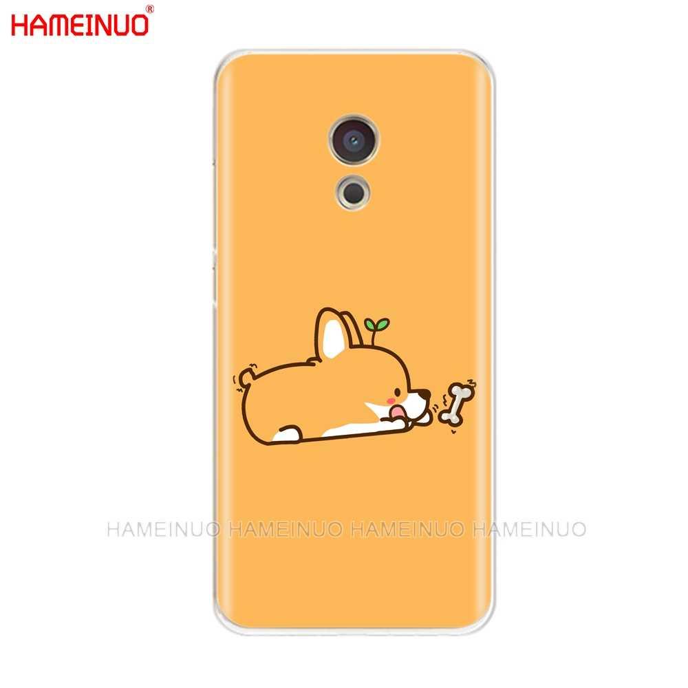 HAMEINUO קורגי כלב חמוד בעלי החיים Cartoon כיסוי טלפון מקרה לmeizu M6 M5 M5S M2 M3 M3S MX4 MX5 MX6 פרו 6 5 U10 U20 הערה בתוספת