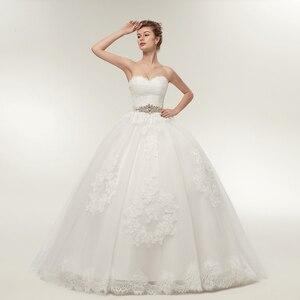 Image 2 - Женское платье с длинным рукавом Fansmile, свадебное платье из двух предметов, модель 2020