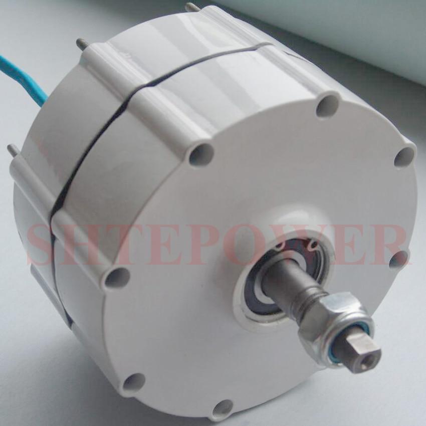 Générateur 300 W avec contrôleur de chargeur de vent 12 V/24 V triphasé AC système de éoliennes à aimant permanent bricolage - 5