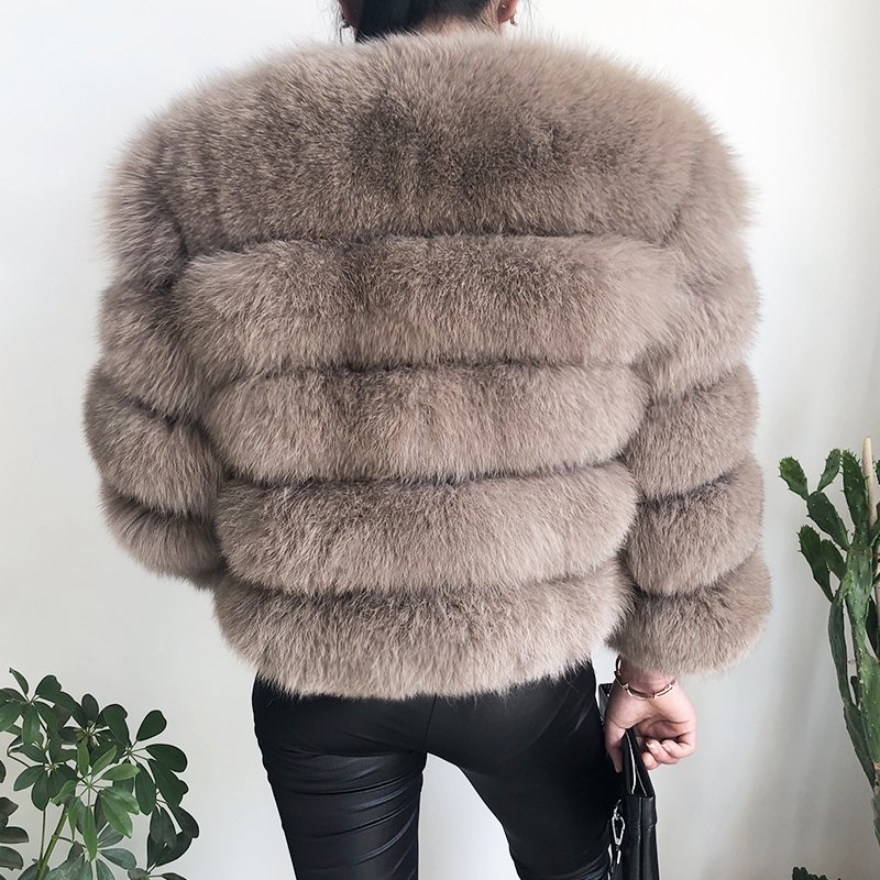 2019 new style real fur coat 100% natural fur jacket female winter warm leather fox fur coat high quality fur vest Free shipping 37