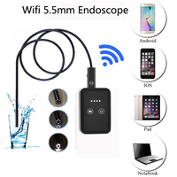 5 5mm Lens Waterproof WiFi Android Endoscope 1m 2m 5m 10m Cable USB Endoscope Camera Pipe
