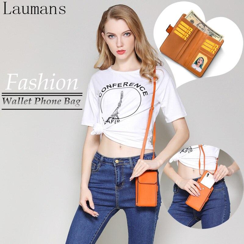 Laumans Fashion Girl Phone Bag Leather case For iPhone X 8 Plus Women Luxury Wallet Bag Cover for Apple iphonex 7 Plus 6s Plus 6