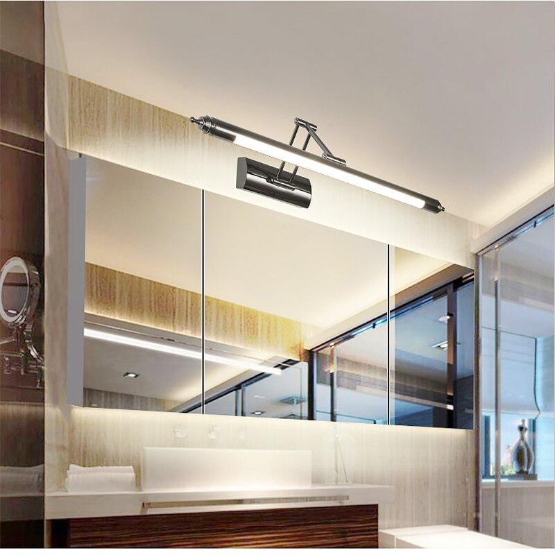 Europeu espelho espelho do banheiro conduziu a luz do farol lâmpada retrátil lâmpada de parede pia do banheiro maquiagem CL0420 arandelas de parede lâmpada - 4