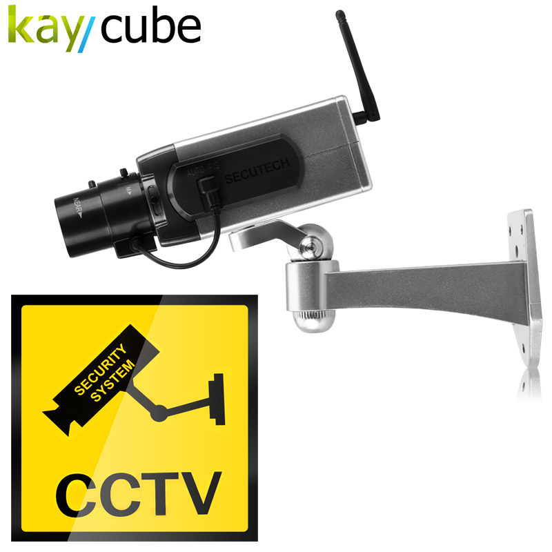 4pcs/lot Wireless Fake Camera LED Surveillance Motion Detection Security CCTV Dummy Camera Free Shipping цена и фото