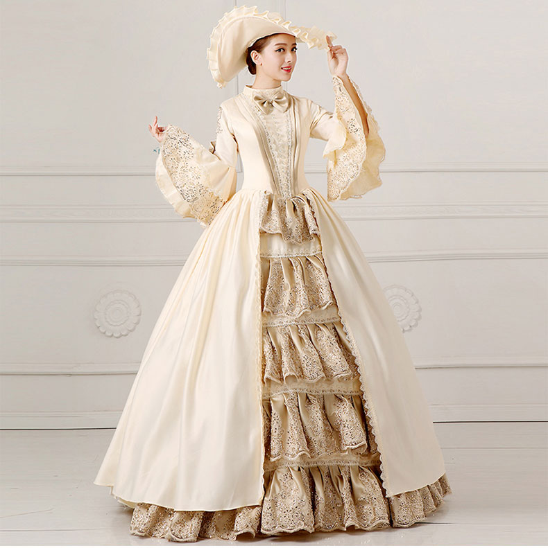 Lovely European Court Dress 18th Century Queen Victorian Dresses Ball Gowns For Ladies Halloween Cosplay Costume Home