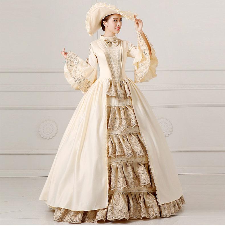 2017 European Court Dress 18th Century Queen Victorian Dresses Ball ...