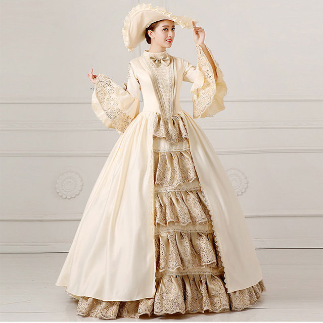 2017 european court dress 18th century queen victorian for 18th century wedding dress