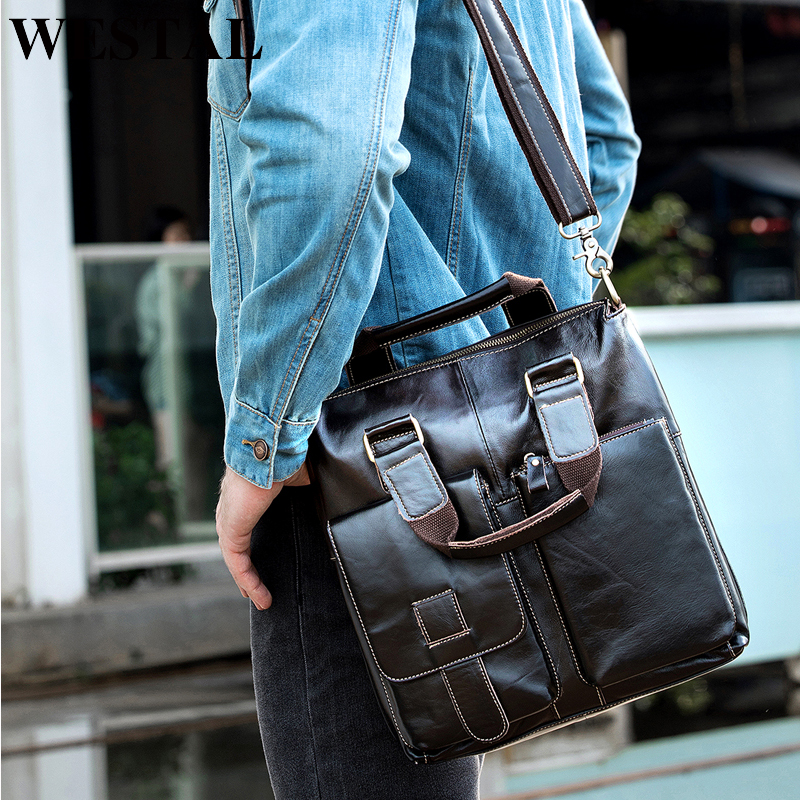 WESTAL Messenger-Bag Handbags Crossbody-Bags Male Fashion Men for Flap 8259