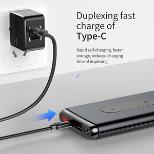 Image 3 - Baseus 10000mAh Quick Charge 3.0 Power Bank Portable USB C PD Fast Qi Wireless Charger Powerbank For Xiaomi mi External Battery