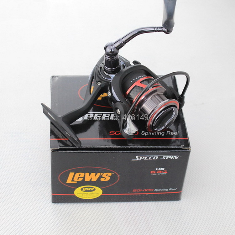 Usa brand lew 39 s high speed speed spin fishing reel size for Lews fishing apparel