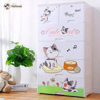 Kids Plastic Drawers Storage Organizer Bins clothes storage box Children box for toys Food and food storage kitchen storage box
