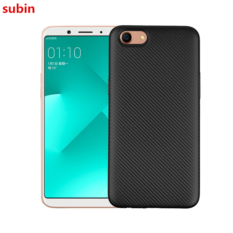 For Oppo A83 Case Carbon Fiber Soft Light and thin Cover For Oppo A 83 Phone Bag Case 5.7 inch