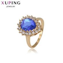11,11 ofertas Xuping nueva moda anillo de dedo del corazón de la joyería para las señoras regalo de la promoción grande al por mayor de la Navidad 13276